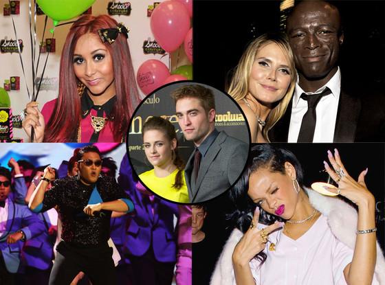 Snooki, Heidi Klum, Seal, Psy, Rihanna, Robert Pattinson, Kristen Stewart