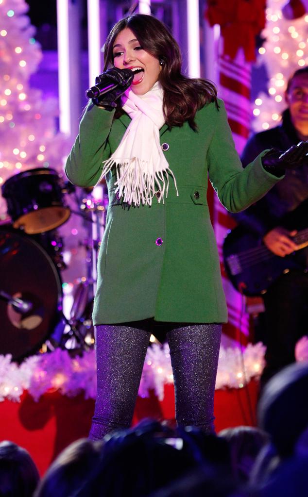 Victoria Justice, Rockefeller ChristmasTree Lighting