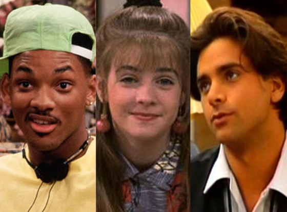 90's TV shows: Fresh Prince of Bell Air, Clarissa Explains It All, Full House