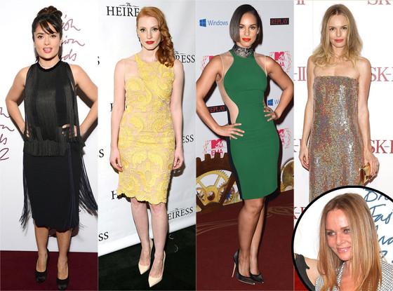 Salma Hayek, Jessica Chastain, Alicia Keys, Kate Bosworth