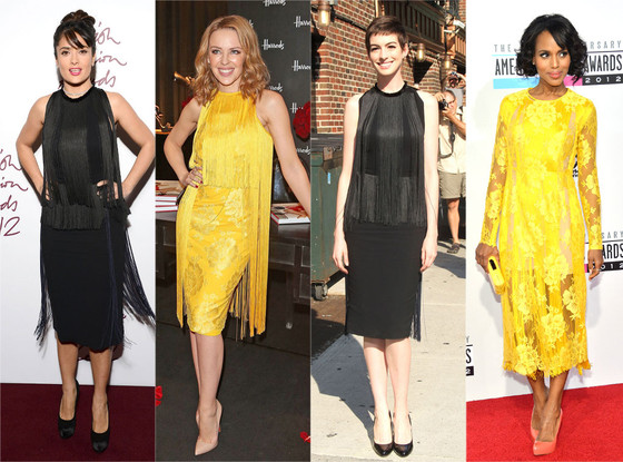 Salma Hayek, Kylie Minogue, Anne Hathaway, Kerry Washington