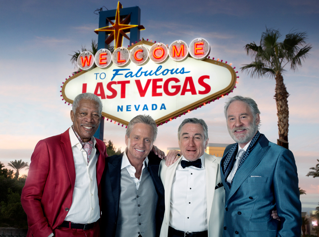 Last Vegas, Michael Douglas, Robert De Niro, Morgan Freeman, Kevin Kline, Holiday Movie Guide