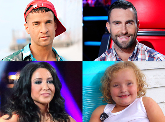 Honey Boo Boo The Situation, Jersey Shore Bristol Palin, Dancing With the Stars Adam Levine