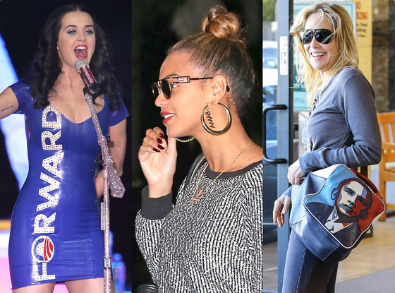 Katy Perry, Sharon Stone, Beyonce
