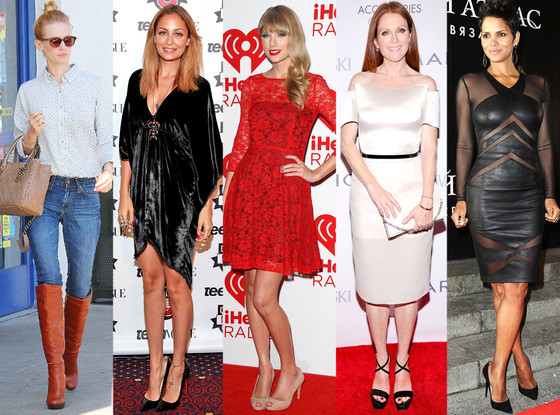 January Jones, Nicole Richie, Taylor Swift, Julianne Moore, Halle Berry