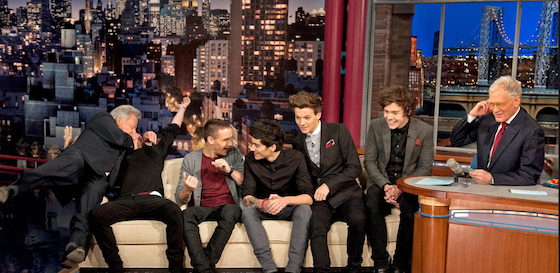 Niall Horan, Dustin Hoffman, One Direction, David Letterman