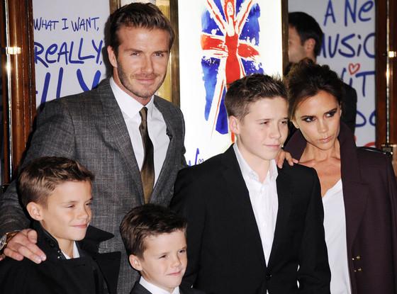 Romeo Beckham, David Beckham, Cruz Beckham, Brooklyn Beckham, Victoria Beckham