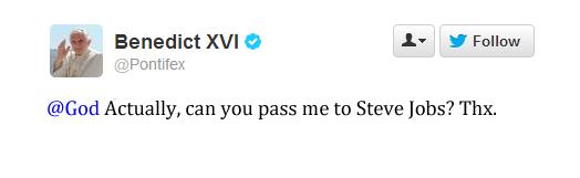 Pope Benedict Twitter