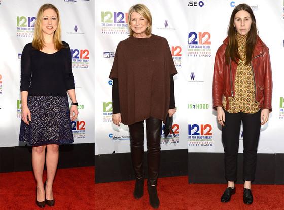 Zosie Mamet, Martha Stewart, Chelsea Clinton
