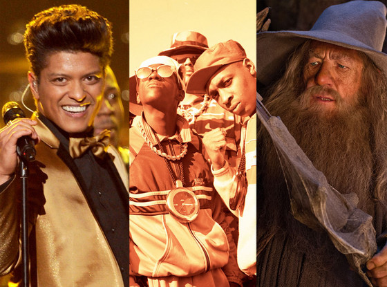 Public Enemy, The Hobbit, Bruno Mars