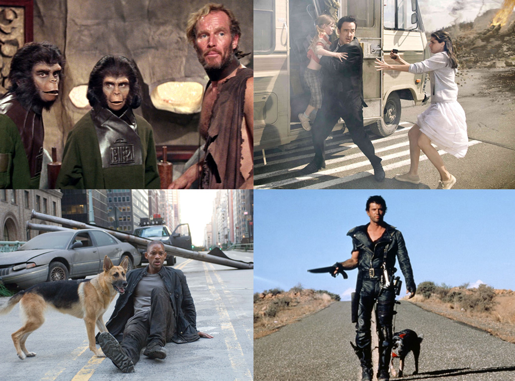 End of the World Split, I Am Legend, 2012, The Road Warrior, Planet of the Apes