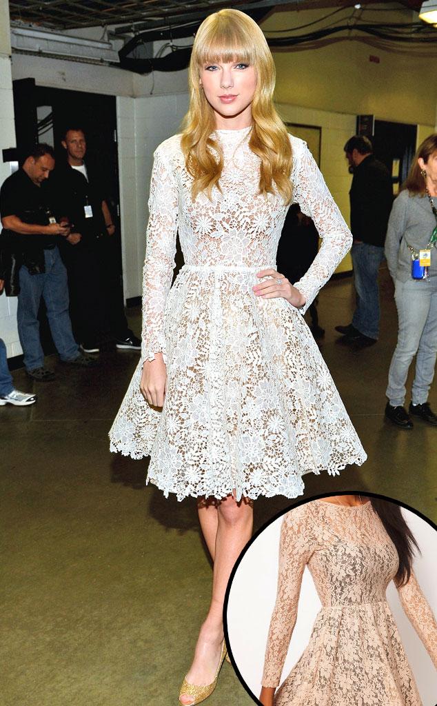 Taylor Swift, Scoop Back Sequin Lace Skater