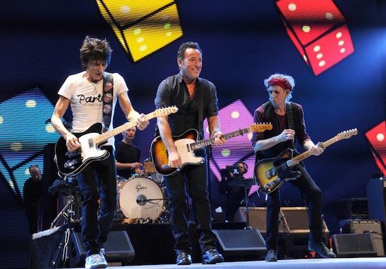 Rolling Stones, Lady Gaga, Bruce Springsteen
