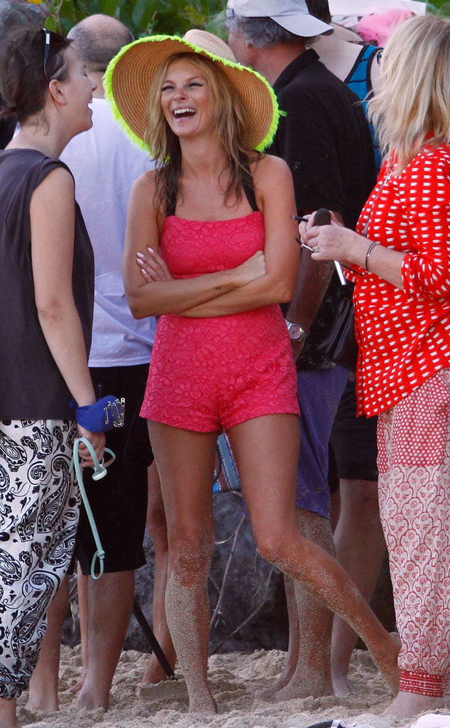 Photo #242776 from Kate Moss Models Bikinis in St. Barts ...