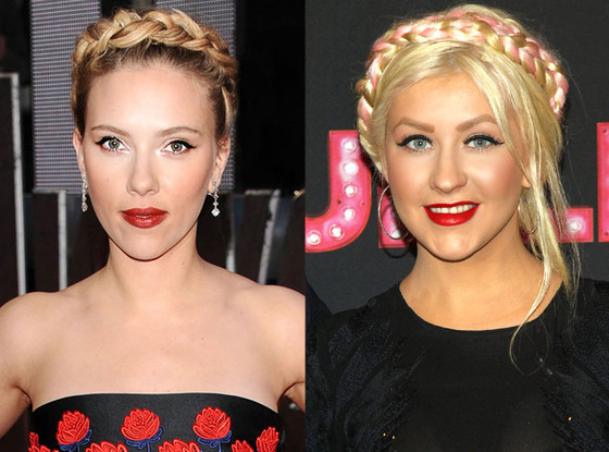 Scarlett Johansson, Christina Aguilera