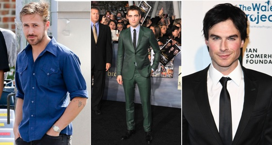 Ryan Gosling, Robert Pattinson, Ian Somerhalder