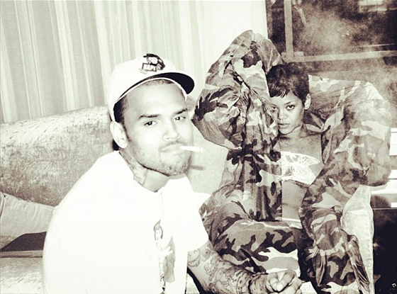 Rihanna, Chris Brown, instagram