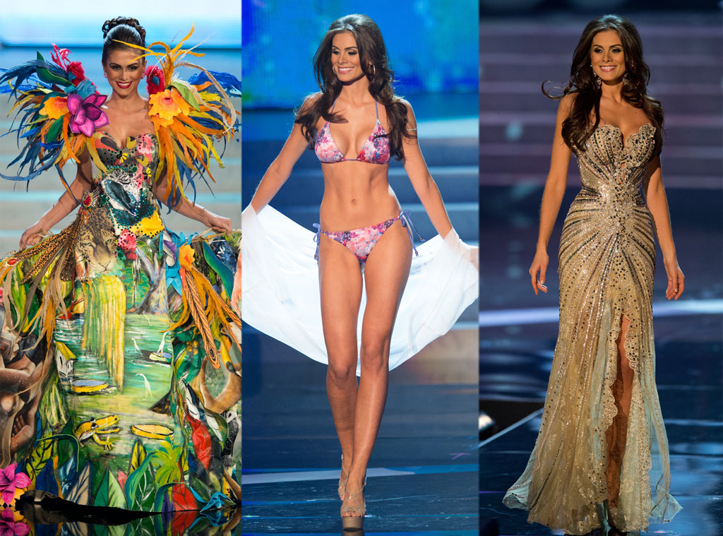 Miss Brazil, Costume, Swimsuit, Gown
