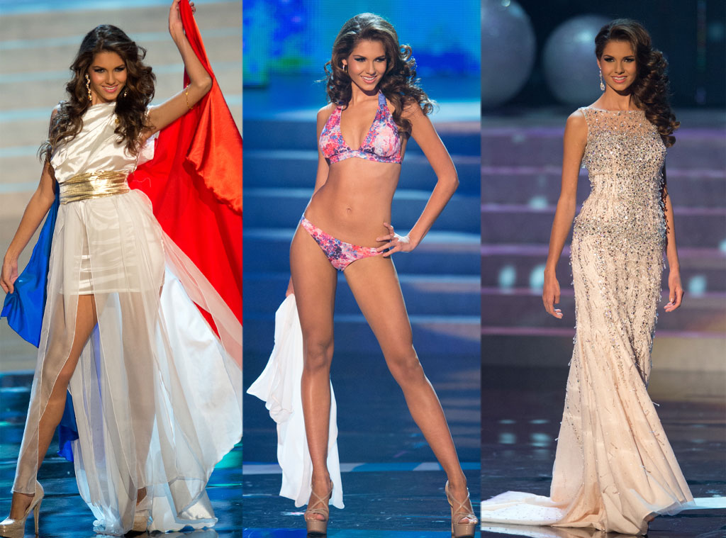 Miss France, Costume, Swimsuit, Gown