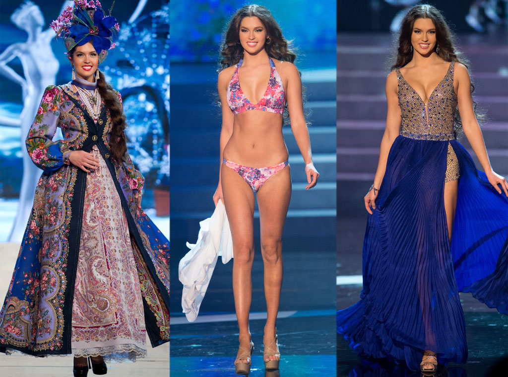 Miss Russia, Costume, Swimsuit, Gown