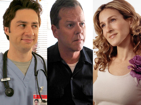 Sarah Jessica Parker, Sex and the City Keifer Sutherland, 24 Zach Braff, Scrubs