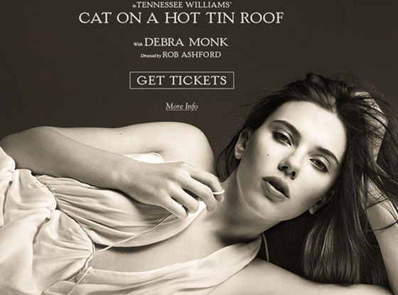 Scarlett Johansson, Cat on a Hot Tin Roof Poster