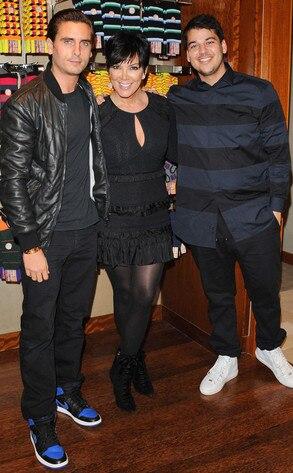 Scott Disick, Robert Kardashian, Kris Jenner