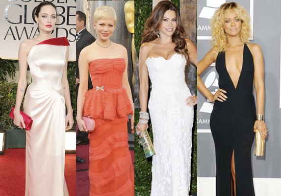 Os melhores looks do tapete vermelho em 2012