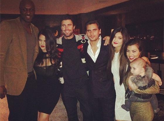 Lamar Odom, Khloe Kardashian Odom, Brody Jenner, Scott Disick, Kylie Jenner, Kourtney Kardashian