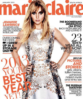 Jennifer Lawrence, Marie Claire