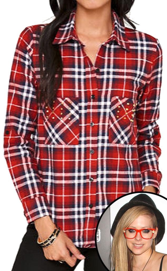 Avril Lavigne, Nollie Bullet Stud Flannel Shirt