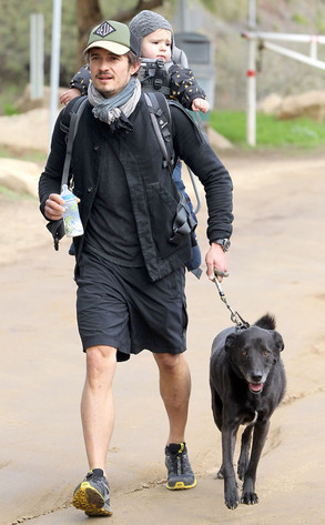 Orlando Bloom, Flynn, Dog