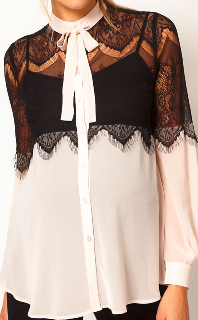 Kim Kardashian Maternity Must Haves, Lace Blouse