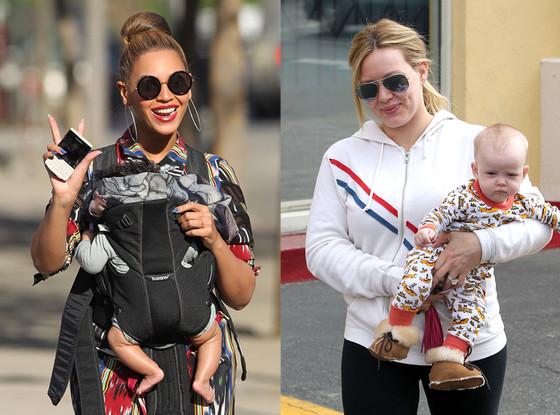 Beyonce, Blue Ivy, Hilary Duff, Luca