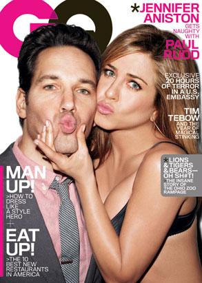 Jennifer Aniston, Paul Rudd, GQ Cover