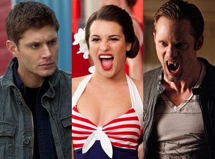 Alexander Skarsgard, True Blood, Lea Michele,Glee, Jensen Ackles, Supernatural