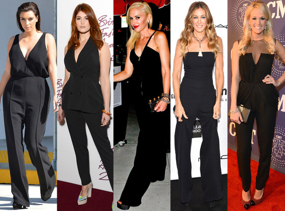 Kim Kardashian, Gemma Arterton, Gwen Stefani, Sarah Jessica Parker, Carrie Underwood, Jumpsuits