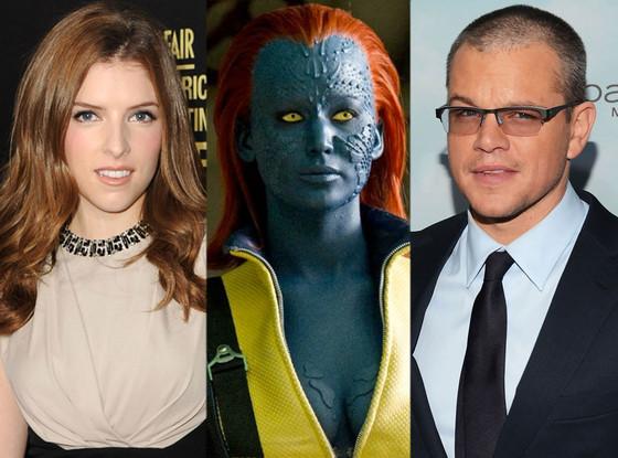 X Men: First Class, Jennifer Lawrence, Anna Kendrick, Matt Damon