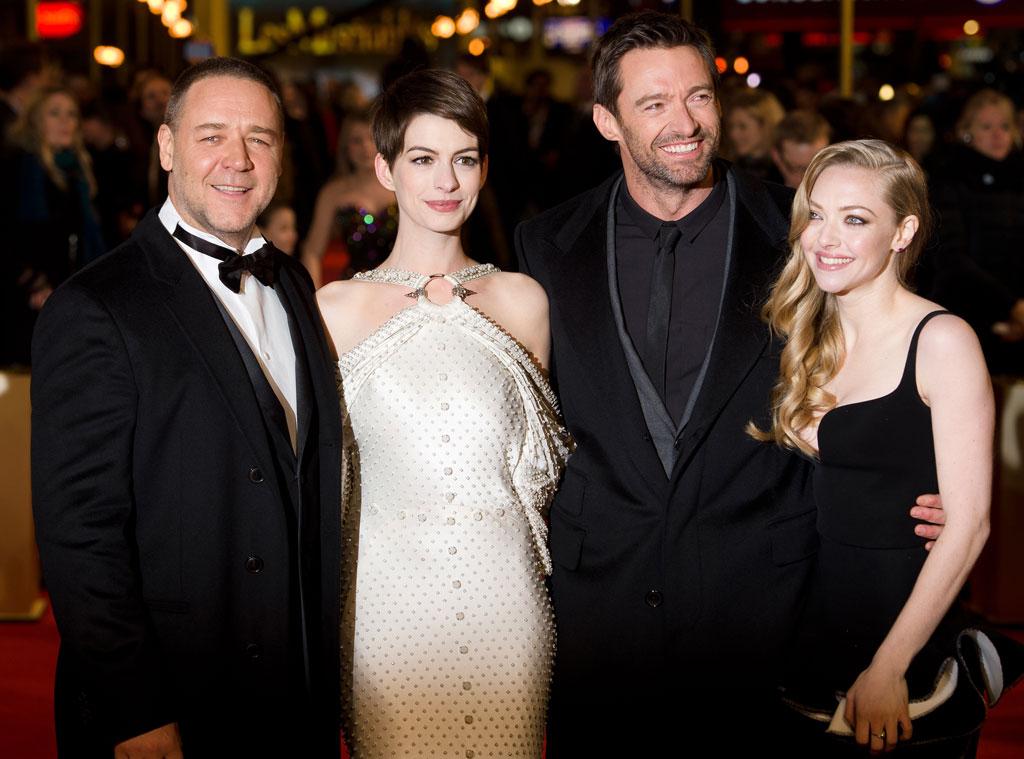 Russell Crowe, Anne Hathaway, Hugh Jackman, Amanda Seyfried