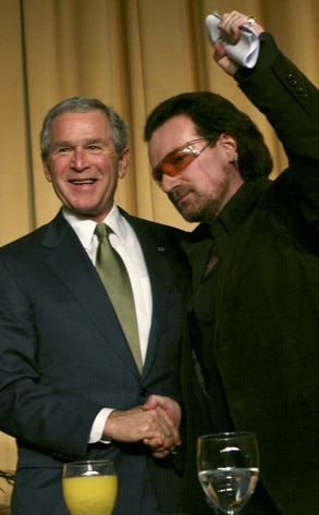President Day Gallery, George Bush, Bono
