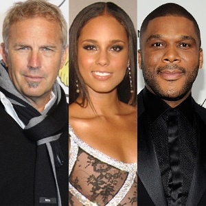 Kevin Costner, Alicia Keys, Tyler Perry