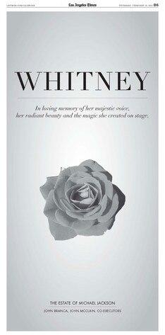 Whitney Houston, Tribute