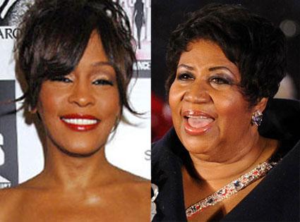 Whitney Houston, Aretha Franklin
