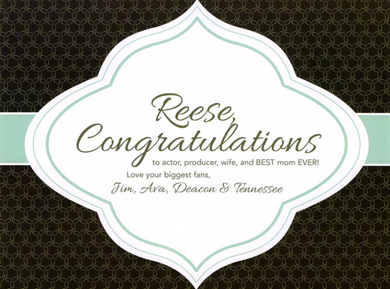 Congrats Reese Witherspoon