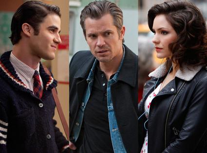 Timothy Olyphant, Justified Katharine McPhee, Smash Darren Criss, Glee