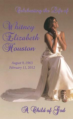 Whitney Houston Funerl Program