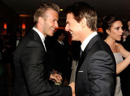 David Beckham, Tom Cruise, Victoria Backham