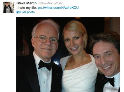 Steve Martin, Gwyneth Paltrow, Martin Short, Twitter