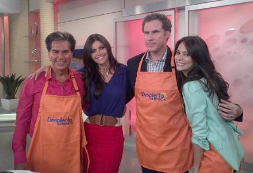 Will Ferrell y Génesis Rodríguez
