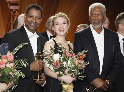 Denzel Washington,Scarlett Johansson, Morgan Freeman